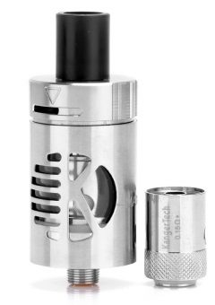 authentic-kanger-cltank-sub-ohm-tank-w-child-lock-silver-stainless-steel-glass-20ml-22mm-diameter